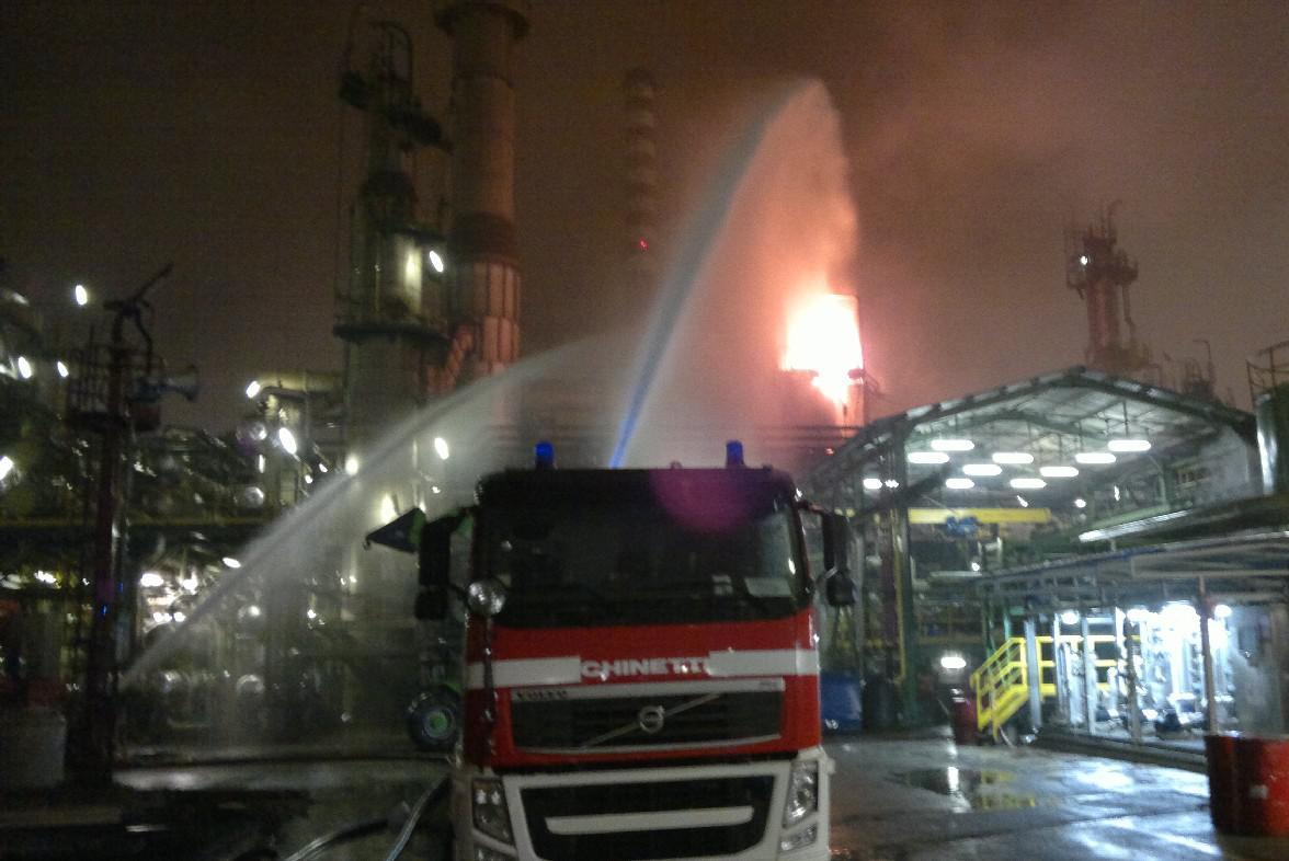 ВИталии нанефтеперерабатывающем заводе произошел взрыв